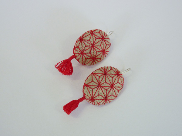 geo red earrings