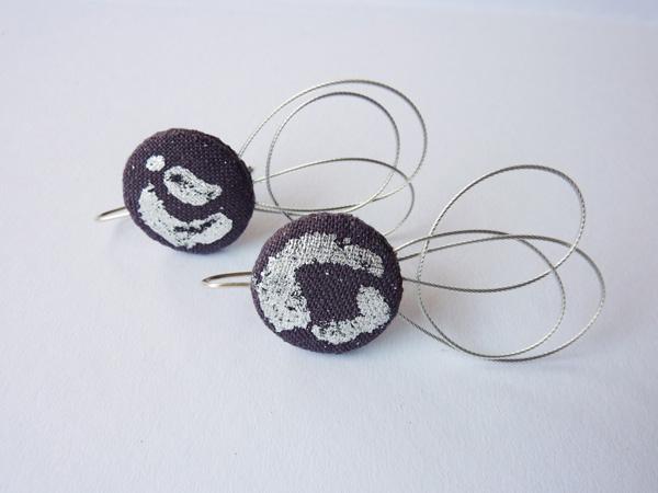 calligraphic earrings