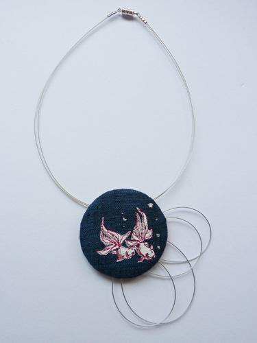 goldfish indigo neckpiece